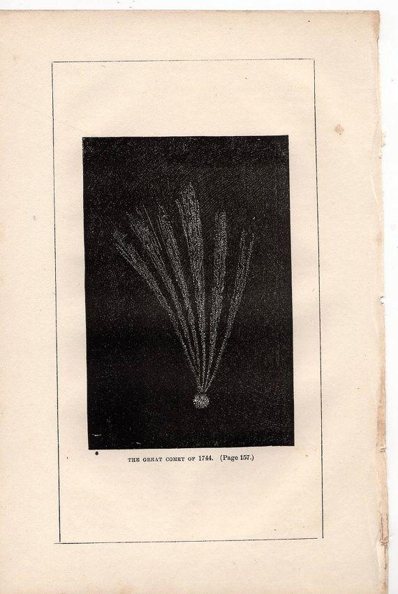 1851 great comet of 1744 original antique by antiqueprintstore