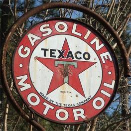 Old TEXACO sign