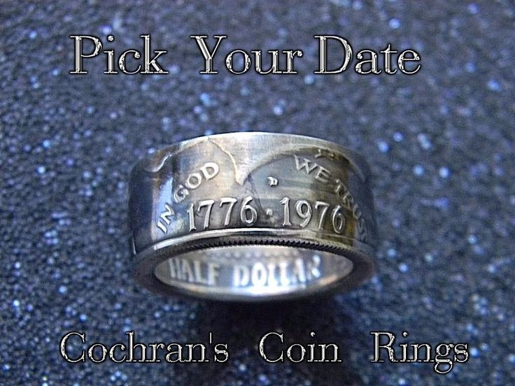 JFK Kennedy Half Dollar Coin Ring 1971-1999 SEALED Choose your Date Sizes 6-14  #Cochranscoinrings #Band