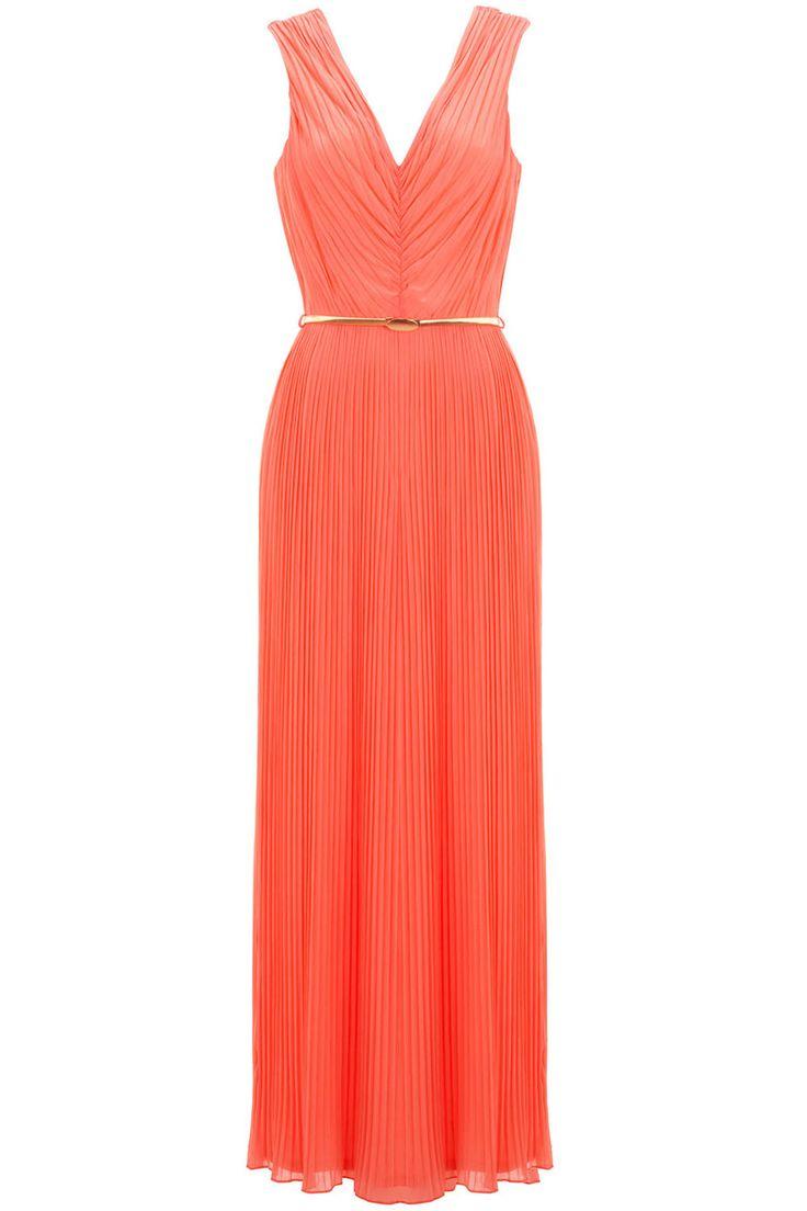 Miss Selfridge Plisse V Neck Maxi Dress, £55