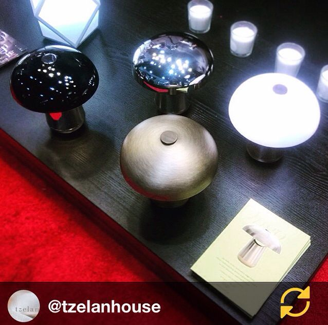 our booth from Tzelan's Instagram vision of Ongo lamp design by Tzelan