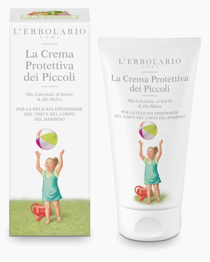La Crema Protettiva dei Piccoli Alla Calendula, al Karitè & alla Malva http://www.erbolario.com/prodotti/657_il_giardino_dei_piccoli_2014_la_crema_protettiva_dei_piccoli