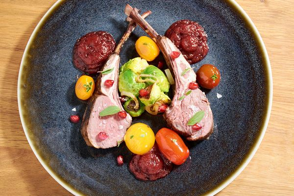 Sous Vide Rack Of Lamb With Pomegranate Sauce Recipe Sous Vide