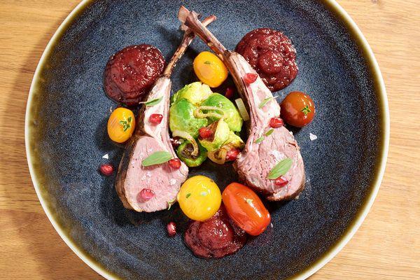 Sous Vide Rack Of Lamb With Pomegranate Sauce Recipe Sous Vide