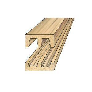 Hardwood sliding door track and upper guide set by for 1 4 inch sliding door track