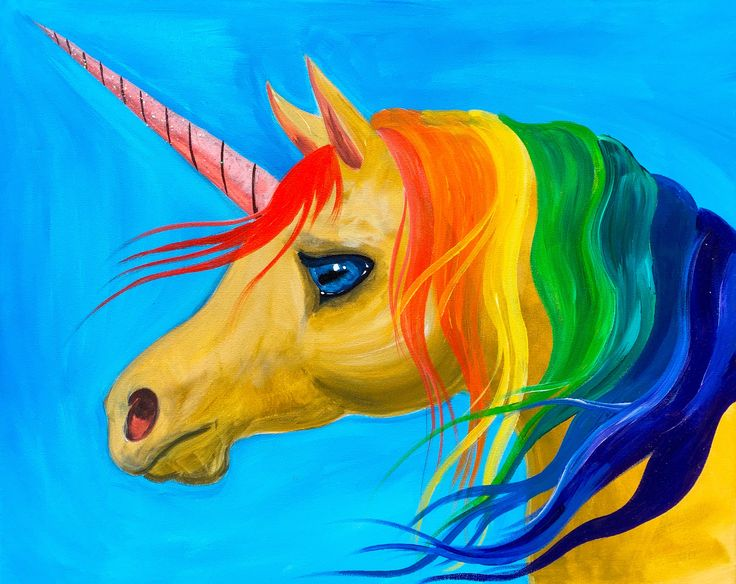 Painting A Unicorn Acrylic Beginners Traceables