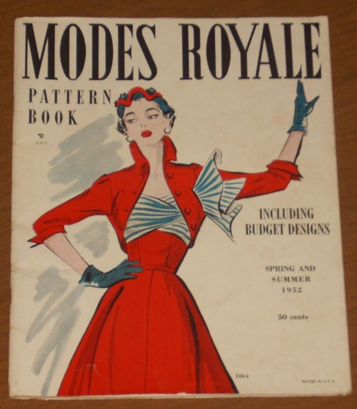 Vintage Modes Royale Pattern Book Magazine~Spring & Summer 1952~Printed in USA