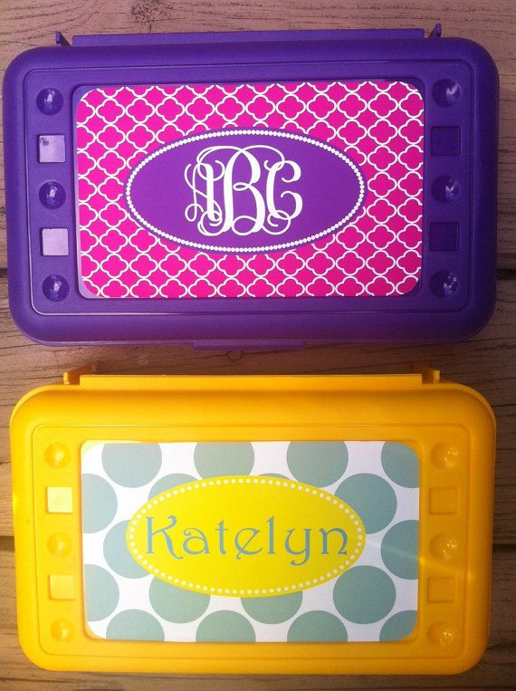 Personalized Pencil Box by KandyRiggsDesigns on Etsy