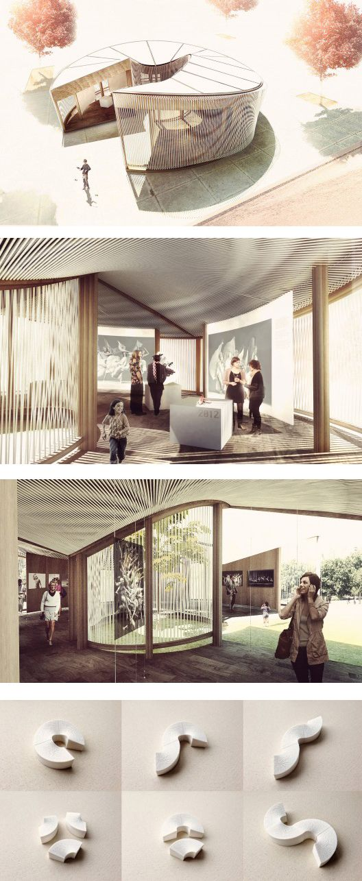 The Weaving In-Tension (WIT) Pavilion is a multi-functional temporary pavilion designed by Meta- Studio for the Operalab Competition. The modular project concentrates on customizable space with the aim of not only to create various purposes of space, but to reflect the theatre performing motion and spirit to the pavilion.