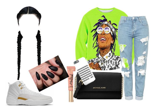 """Wiz Kalifah"" by ashantisowell ❤ liked on Polyvore featuring Topshop, Too Faced Cosmetics and Michael Kors"