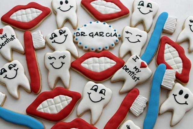 gallery of dentist cookies | Dentist cookie platters | Cookie Connection