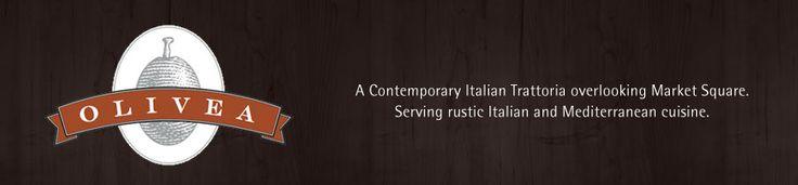 Olivea Restaurant - A Contemporary Italian Trattoria overlooking Market Square. Serving rustic Italian and Mediterranean cuisine.