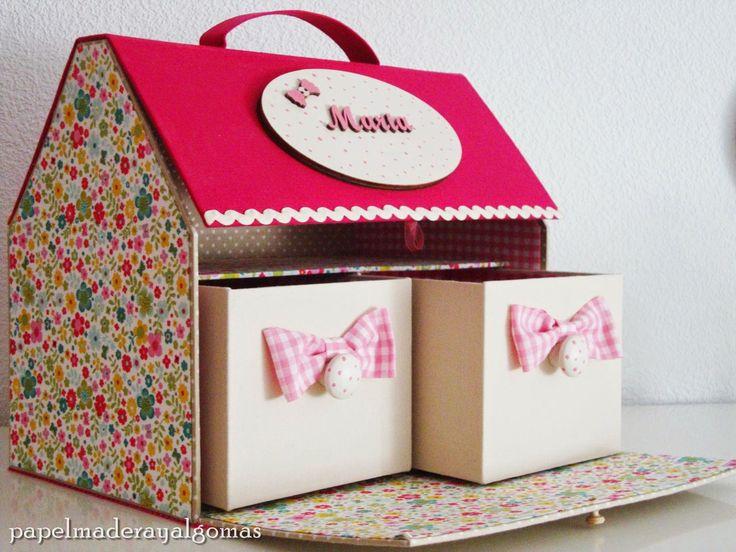M s de 15 ideas fant sticas sobre cofres de carton en for Casitas de madera para guardar cosas