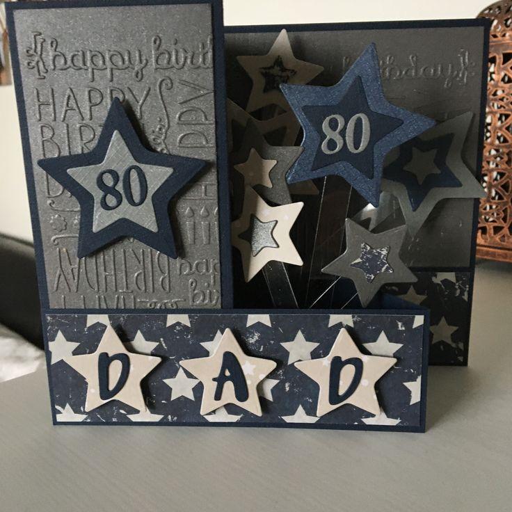 Dad 80th birthday card in 2020 80th birthday cards