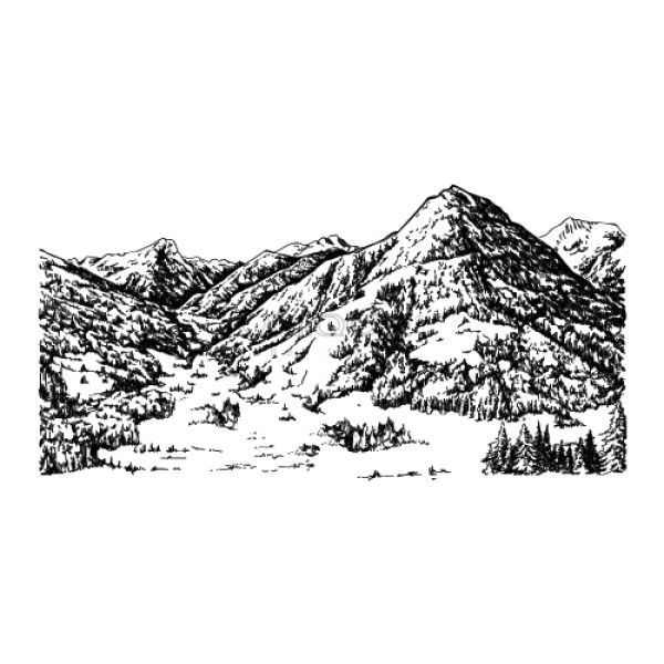 Unique Hobby Products Unique Hobby Stamps - Berglandschap #1 - 104 mm x 55 mm - (UHKS31047)