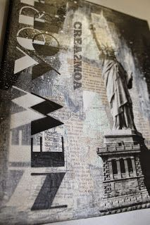 crea2moa: Mixed media Canvas : New york, New York