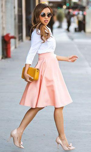 Scarpin - saiba como e quando usar esse clássico | Looks com saia midi, Looks, Moda