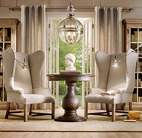 25 best images about entrance lighting on pinterest chrome finish foyers and foyer light fixtures - Restoration hardware entry table ...