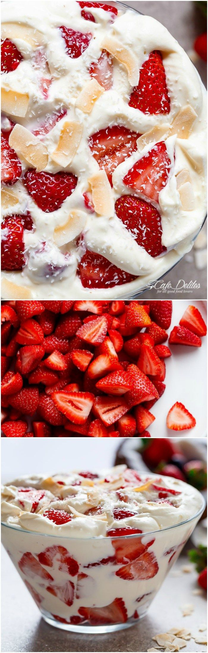 Strawberry-Coconut-Cheesecake-Salad Collage(Summer Bake Cream Cheeses)