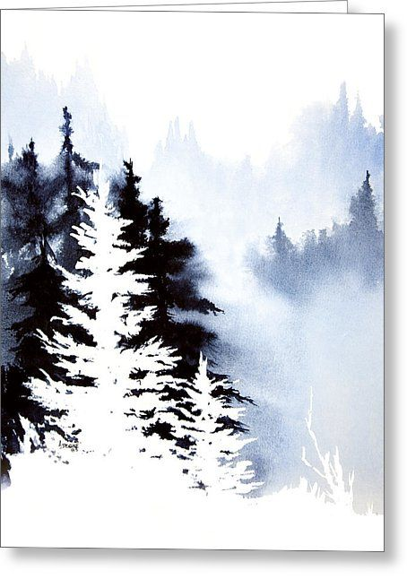 Forest Indigo Greeting Card by Teresa Ascone