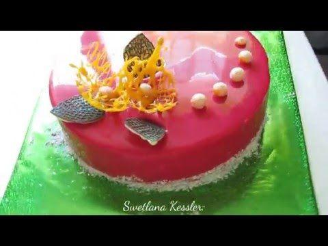Муссовый торт с зеркальной глазурью рецепт с пошагово 182