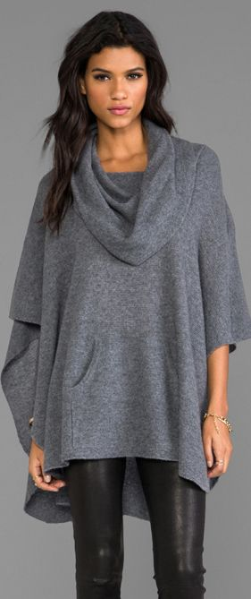 360 Sweater Laurel Cashmere Poncho I own two of these and where them all winter love them!