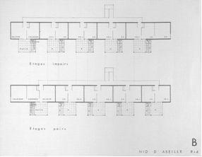 ATBAT-Afrique, Conjunto residencial en Carrières Centrales, Marruecos 1953