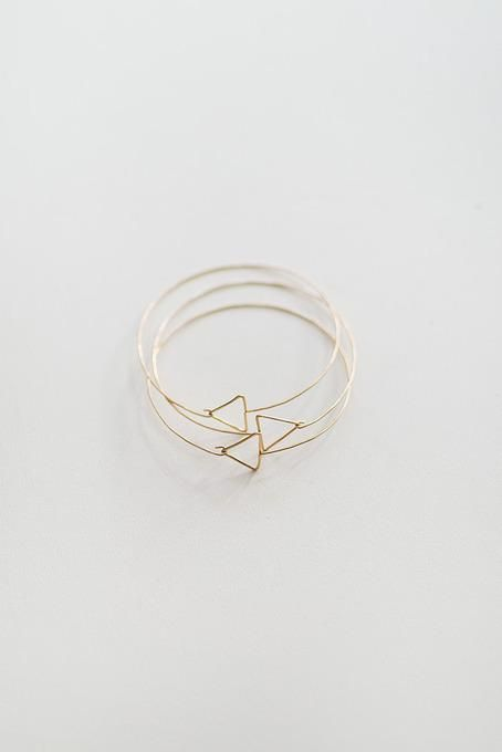 Minimal Stacking Geometric Bracelets ღ