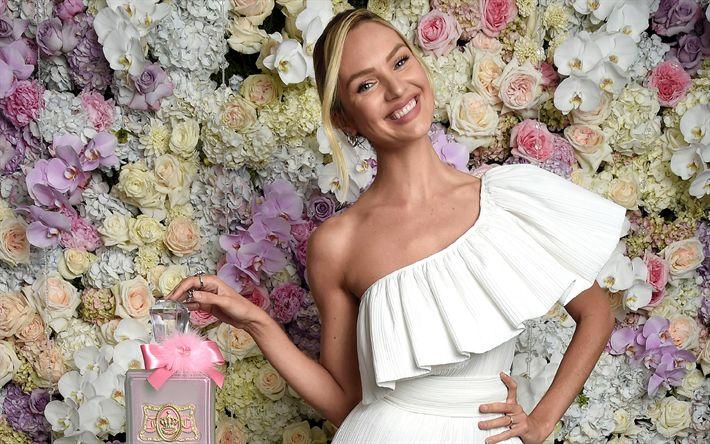 Indir duvar kağıdı Candice Swanepoel, gülümse, güzellik, en üst model, sarışın