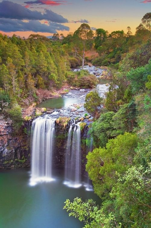 10 Amazing Waterfalls You must see - Dangar Falls are located about 1.2 km north of Dorrigo, on the Bielsdown River. The falls are small but picturesque, and are a popular photographic subject.