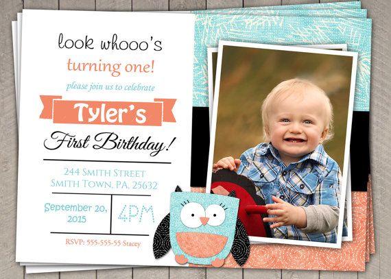 Printable Birthday Invitations For Boy ~ Best boys first birthday invitation images st