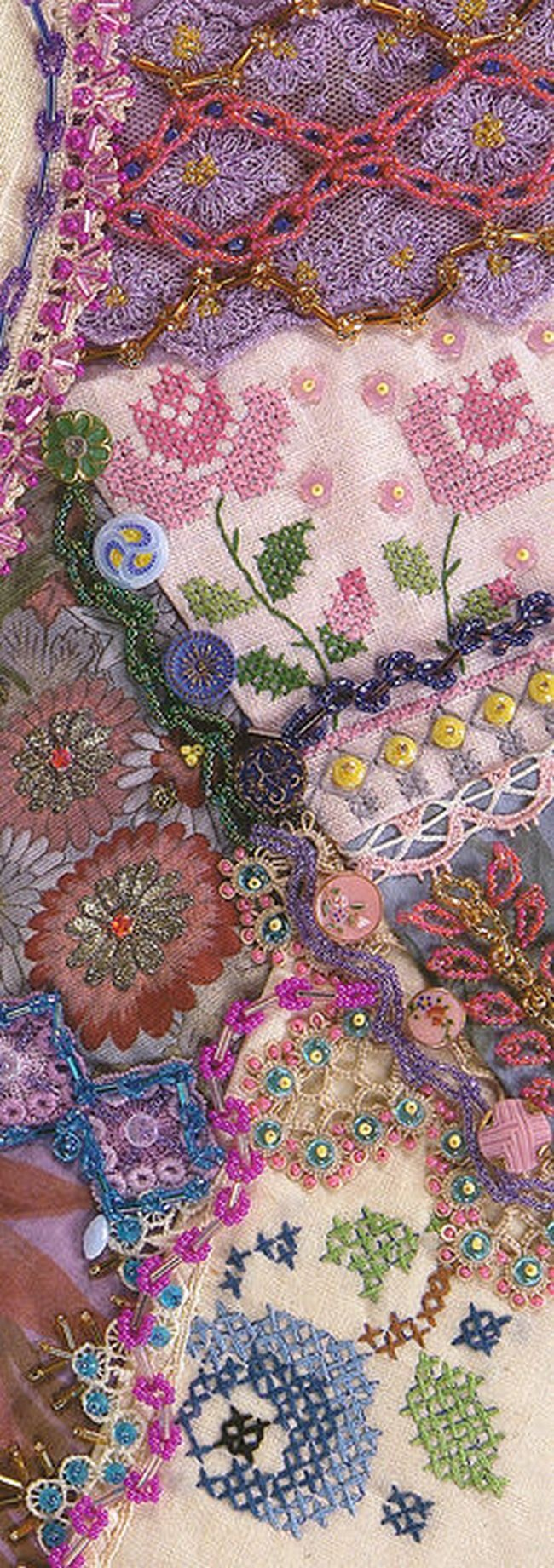 Crazy Quilting Stitches Patterns : 17+ best ideas about Crazy Quilting on Pinterest Crazy patchwork, Crazy quilt stitches and ...
