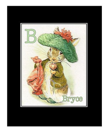 Another great find on #zulily! Benjamin Bunny Beatrix Potter Personalized Print #zulilyfinds