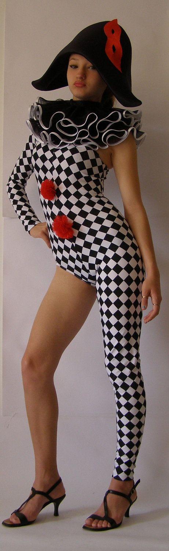 Sleek N' Sexy Bodysuit Adult HARLEQUIN COSTUME-harlequin clown -Commedia dell'arte -. $198.00, via Etsy.