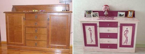 Можно ли красить старую мебель