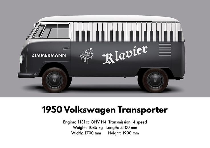 1950 Volkswagen Transporter - Zimmermann Klavier Digital Art by Ed Jackson