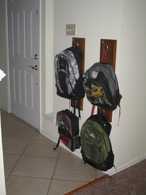 Drawer Front Into Coat/Backpack Hanger