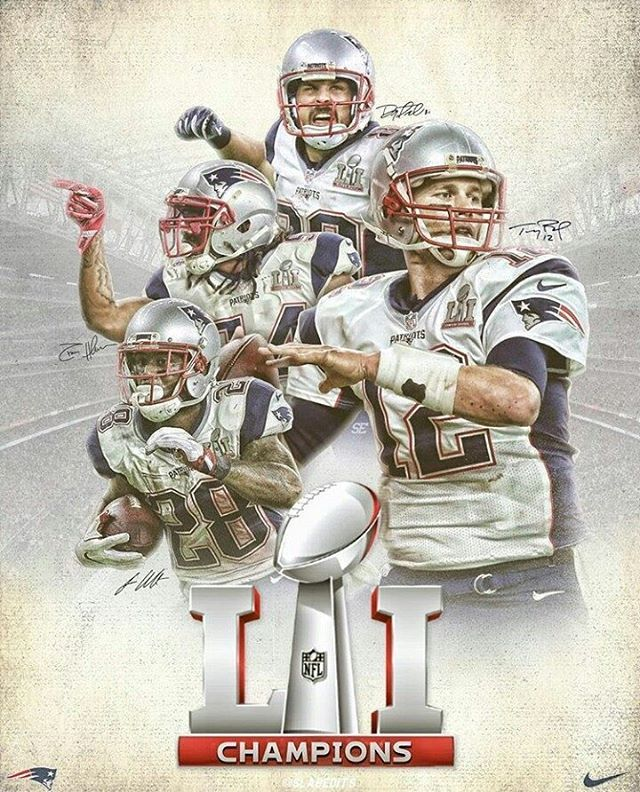 New England Patriots SB LI poster by @slabedits  - #NewEnglandPatriots #NewEngland #Patriots  #GoPats #PatsNation #Pats #PatriotsNation #TeamBrady #TomBrady #Brady #TB12 #12 #SuperBowl51 #JW28 #DA80 #DH54 #NE