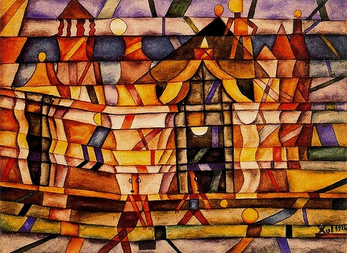 Solar, Xul (1887-1963) - 1924 Colonial House (Private Collection)