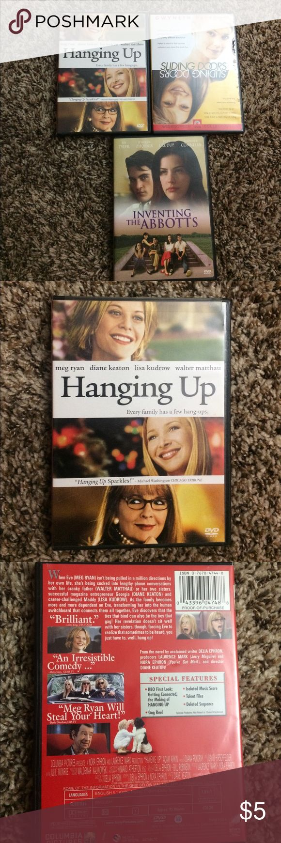 3 set chick flick/drama movies All have been watched a few times. $12 asking for $5 Other