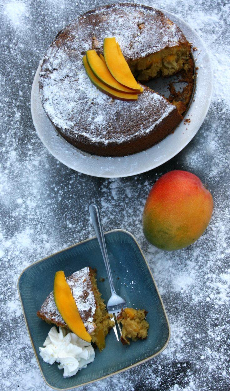 Mango Polenta Cake - When Italy meets the Caribbean - Mummy Alarm
