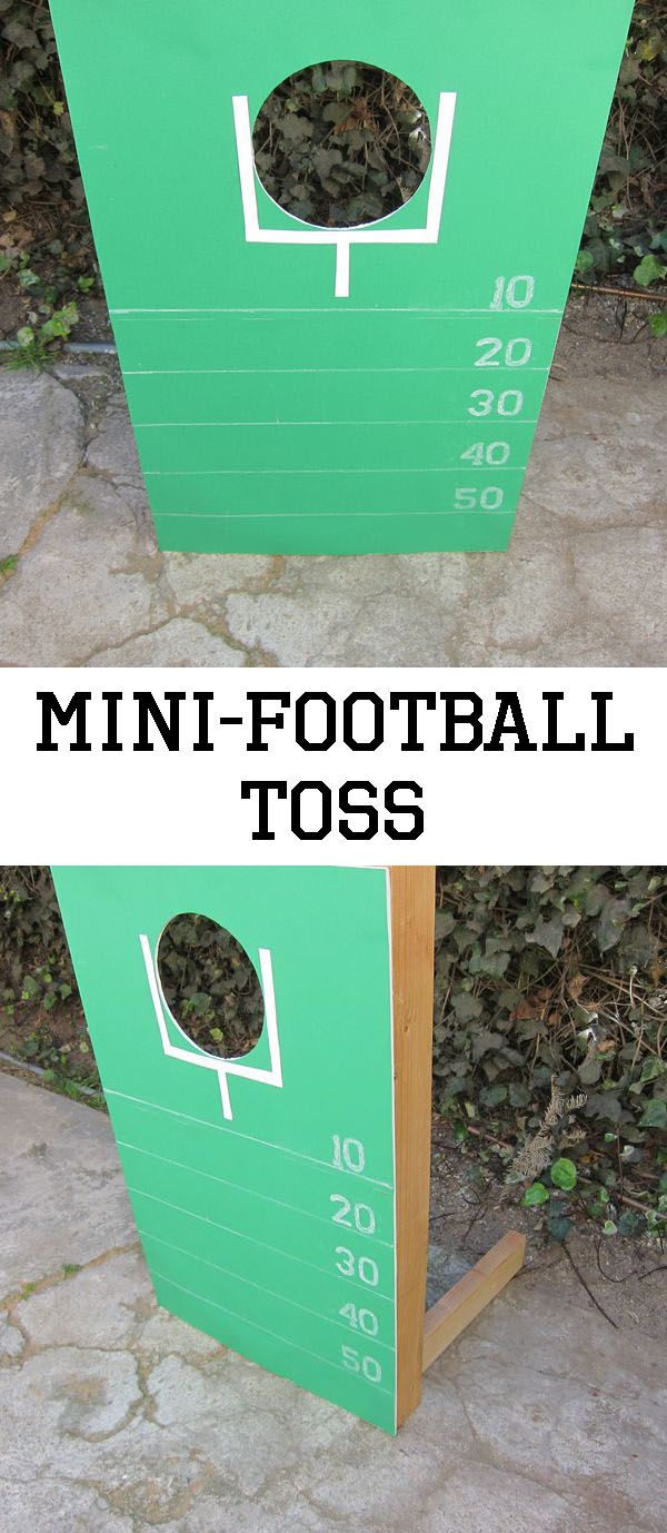 Perfect Super Bowl Sunday activity to get the kids excited about the game (or busy while the men watch TV). Let's go team!