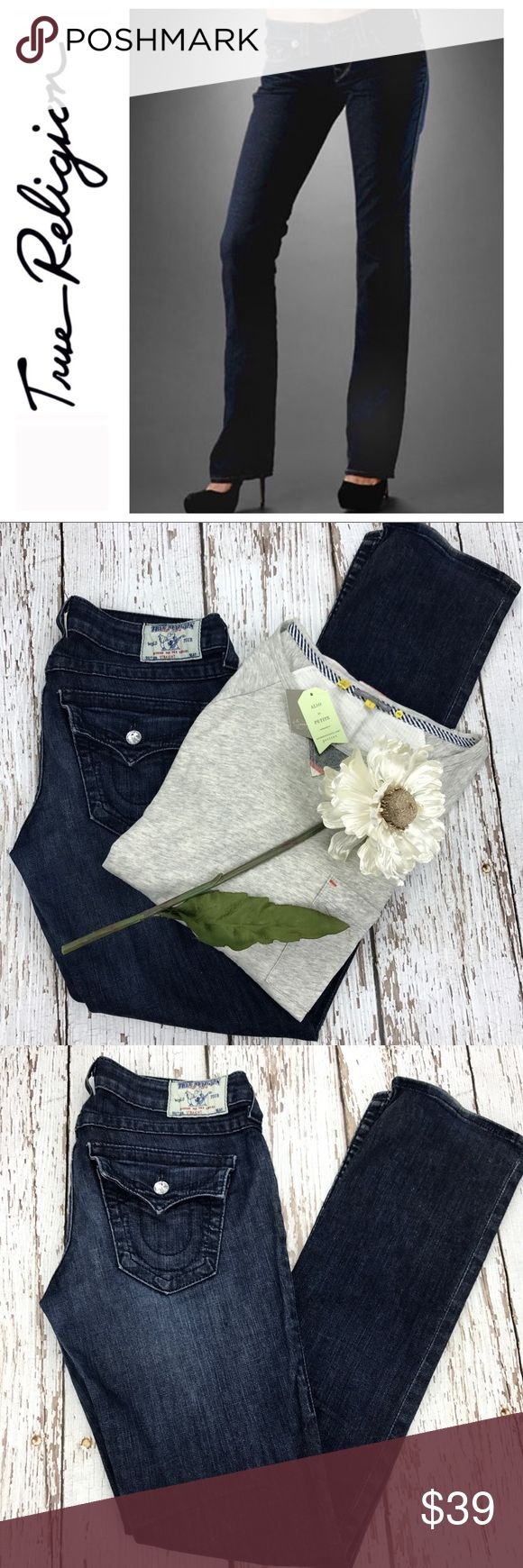 "💕SALE💕 True Religion Straight Leg Premium Denim Fabulous 💕 True Religion Straight Leg Premium Denim 32 1/2"" Inseam 7 1/2"" Rise True Religion Jeans Straight Leg"