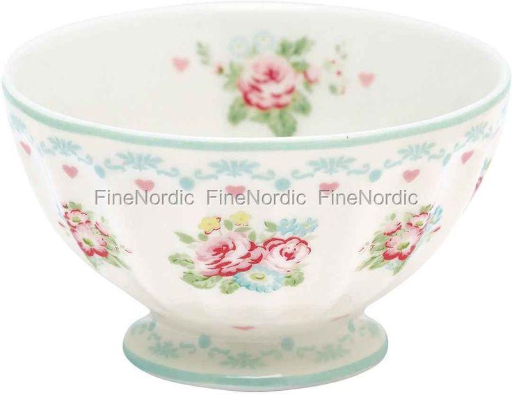GreenGate French Bowl - Abelone White - Medium