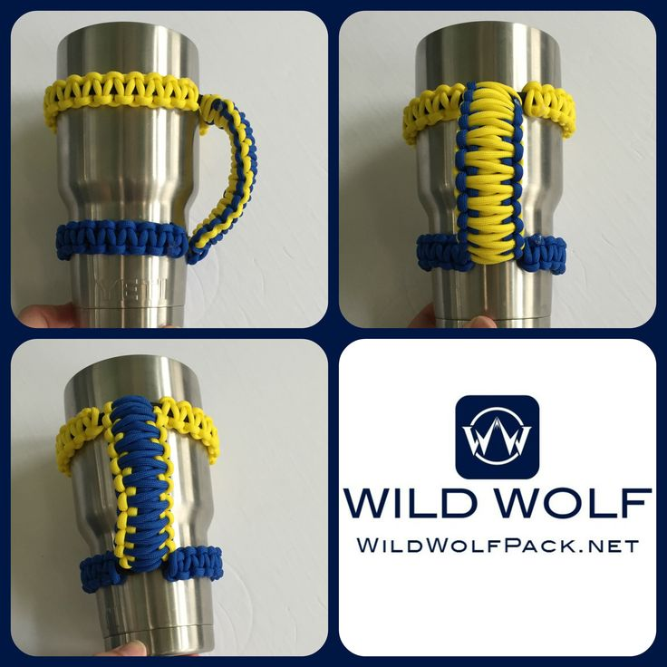Paracord Yeti Handle - Learn how to make your own  Method 1-  Method 2-http://wildwolfpack.net/2017/02/27/reversible-paracord-yeti-or-rtic-handle-cobra-weave/  #paracordyetihandle #yetihandle #paracordprojects