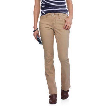 Faded Glory Women's Bootcut Jeans, Size: 12A, Beige