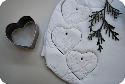 Salt dough ornaments with nature designs
