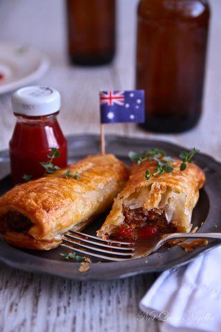 Cheese Marmite Sausage Rolls | Not Quite Nigella (Marmite Substituted for Vegemite)