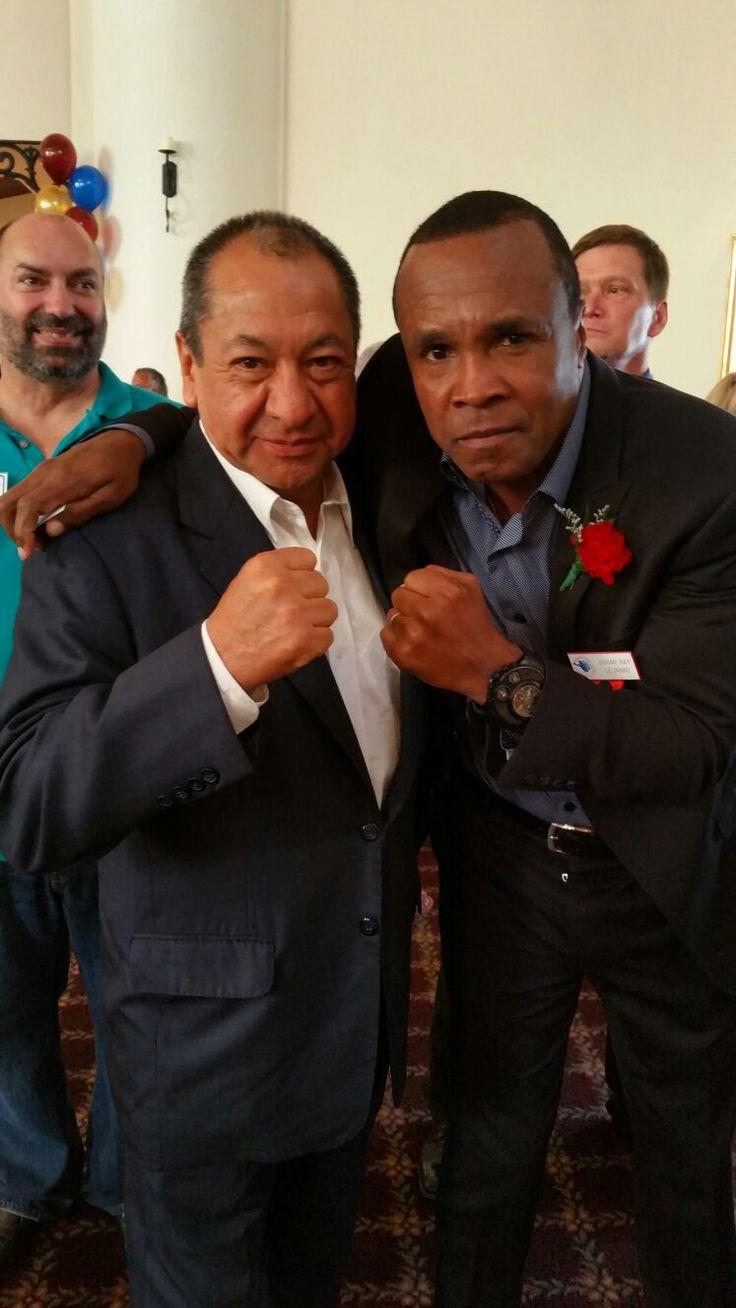 Alberto Reyes y Sugar Ray Leonard, Hall of Fame 2016. #SugarLeonard #boxing #CletoReyes