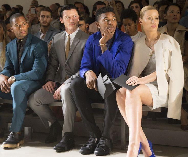Luke Evans, Victor Cruz + More Attend Calvin Klein Spring 2015 Show  image calvin klein collection m s15 CRUZ+EVANS+YOUNG+AZALEA 062214 ph getty images 800x665